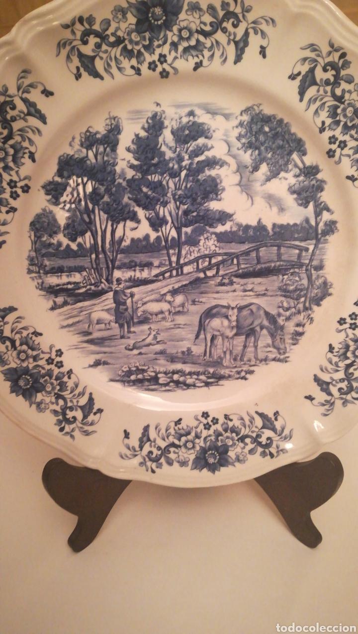 PLATO PORCELANA FRANCESA (Antigüedades - Porcelana y Cerámica - Francesa - Limoges)