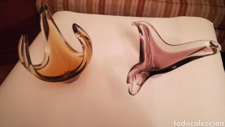 2 CENTROS DE MESA CRISTAL (Antigüedades - Cristal y Vidrio - Murano)
