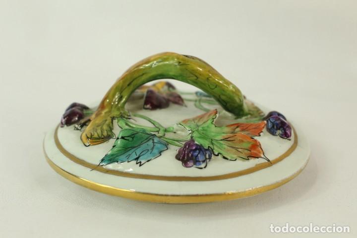 Antigüedades: Tibor Capodimonte. Escena de querubines en cuerpo,pan de oro mediados s XX - Foto 11 - 148421486