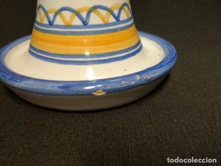 Antigüedades: PORTAVELAS CERAMICA - SELLO TA - TALAVERA SPAIN 21 - Foto 5 - 148463386