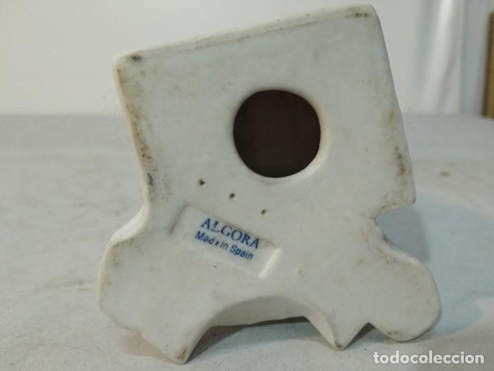 Antigüedades: Figura porcelana Algora, Hombre pintando cerámica - Foto 7 - 148490994