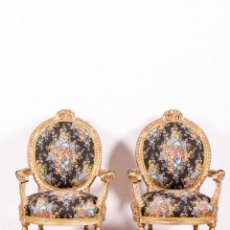 Antigüedades: PAREJA DE SILLONES LUIS XVI FRANCESES. Lote 148535626