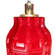 Antigüedades: LAMPARA ANTIGUA ESTILO VINTAGE OPALINA ROJA COMPLETA MITICA HELENA TYNELL. Lote 148538758