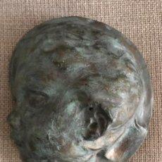 Antigüedades: ANTIGUO PLAFÓN CON ROSTRO DE NIÑO JESÚS O ÁNGEL REALIZADO EN TERRACOTA. Lote 148548834