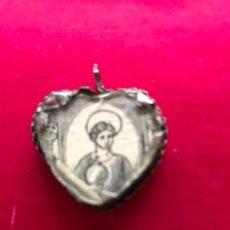 Antigüedades: ANTIGUO RELICARIO A DOS CARAS REALIZADO EN PLATA. S.XVIII. Lote 148550418