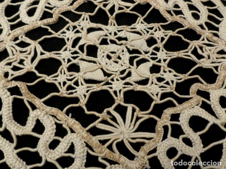 Antigüedades: ANTIGUO TAPETE DE ENCAJE - PRINCIPIOS S.XX - Foto 5 - 148556430