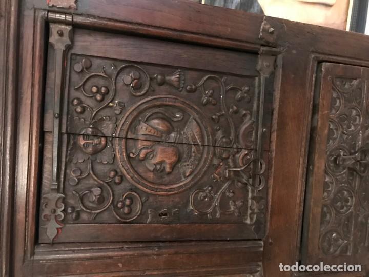 Antigüedades: impresionante aparador renacimiento frances tallado en roble - Foto 2 - 148563650