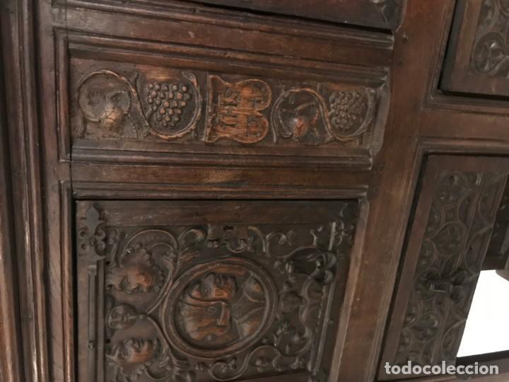 Antigüedades: impresionante aparador renacimiento frances tallado en roble - Foto 3 - 148563650