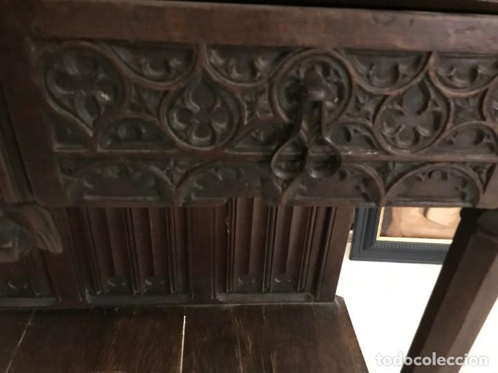 Antigüedades: impresionante aparador renacimiento frances tallado en roble - Foto 6 - 148563650