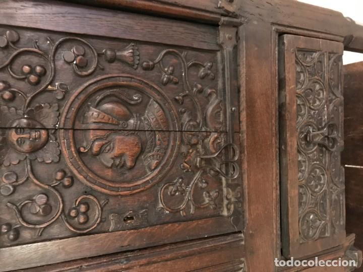 Antigüedades: impresionante aparador renacimiento frances tallado en roble - Foto 9 - 148563650