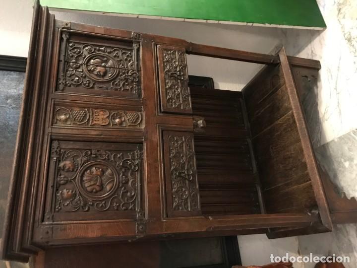 Antigüedades: impresionante aparador renacimiento frances tallado en roble - Foto 10 - 148563650