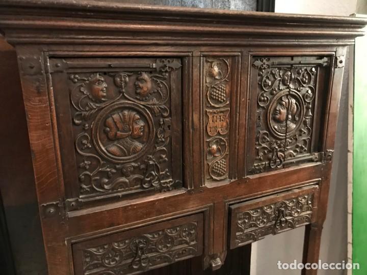 Antigüedades: impresionante aparador renacimiento frances tallado en roble - Foto 11 - 148563650