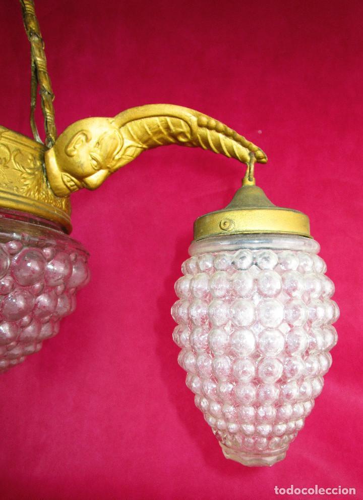 CABLEADA NUEVA, LISTA USO, LAMPARA ANTIGUA CIRCA 1900 ESTILO RENACIMIENTO (Antigüedades - Iluminación - Lámparas Antiguas)