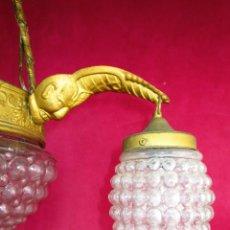Antigüedades: CABLEADA NUEVA, LISTA USO, LAMPARA ANTIGUA CIRCA 1900 ESTILO RENACIMIENTO. Lote 148585038