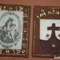 Antigüedades: ESCAPULARIO CARMELITA NUESTRA SEÑORA DEL CARMEN SIGLO XIX. Lote 148598886