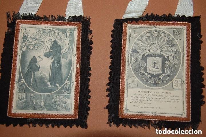 ESCAPULARIO DE LA VENERABLE ORDEN TERCERA FRANCISCANA SIGLO XIX (Antigüedades - Religiosas - Escapularios Antiguos)