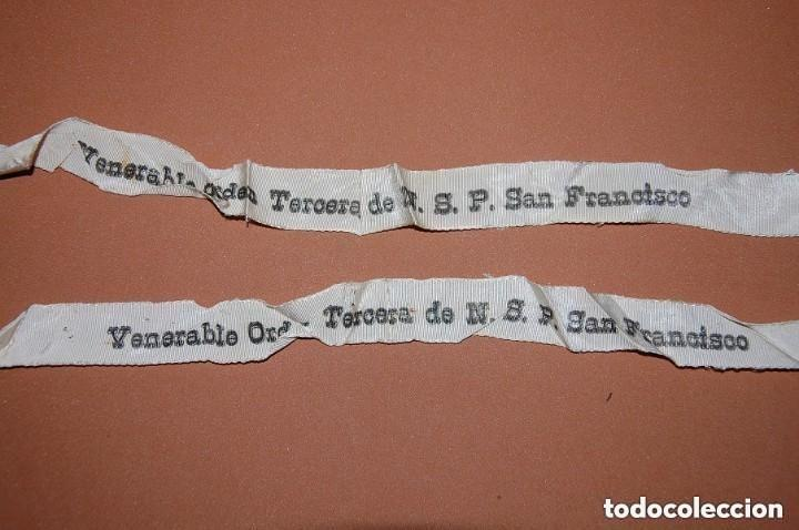 Antigüedades: ESCAPULARIO DE LA VENERABLE ORDEN TERCERA FRANCISCANA SIGLO XIX - Foto 6 - 148598954
