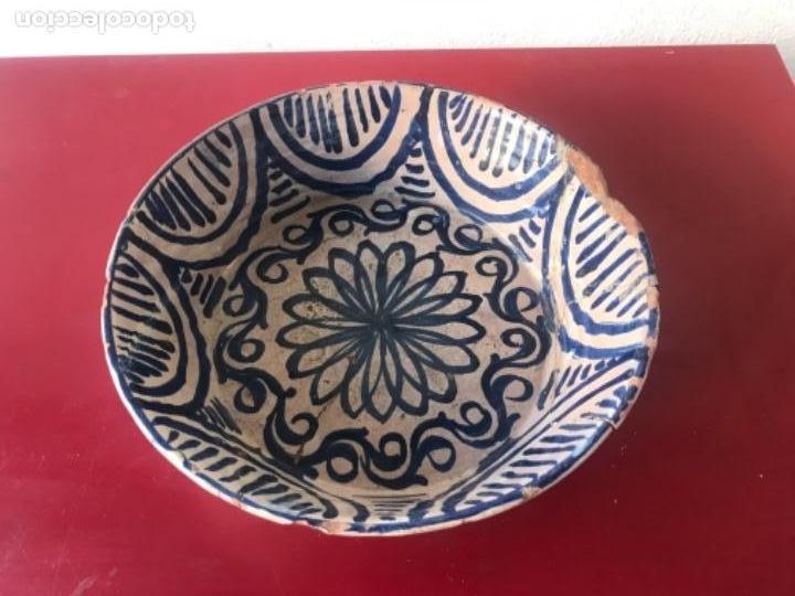PLATO FUENTE O LEBRILLO DE FAJALAUZA SERIE AZUL S.XVIII. VER FOTOS ANEXAS. (Antigüedades - Porcelanas y Cerámicas - Fajalauza)
