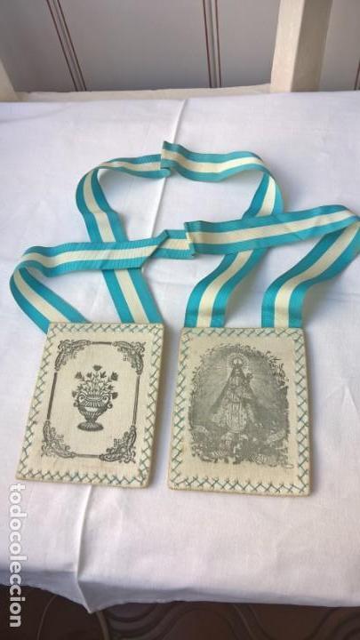 ESCAPULARIO Nª SªLA MAYOR PATRONA DE SIGÜENZA. 8X10 CM - (Antigüedades - Religiosas - Escapularios Antiguos)