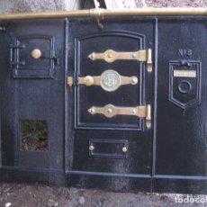 Antigüedades: COCINA DE LEÑA HERGOM 8. COCINA ECONÓMICA, BILBAÍNA. Lote 148628390