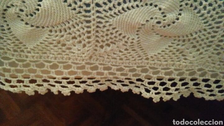 Antigüedades: Colcha o mantel grande de ganchillo - 240 x 210 cm - Foto 2 - 148631225