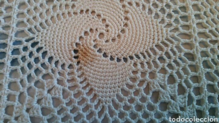Antigüedades: Colcha o mantel grande de ganchillo - 240 x 210 cm - Foto 5 - 148631225