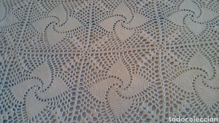 Antigüedades: Colcha o mantel grande de ganchillo - 240 x 210 cm - Foto 6 - 148631225