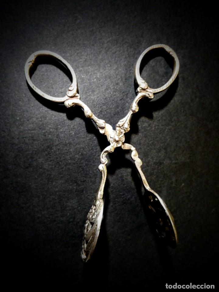 Antigüedades: Preciosas Pinzas Antiguas Ornamentadas de Plata de ley ANTIQUE UNIQUE - Foto 4 - 148649158
