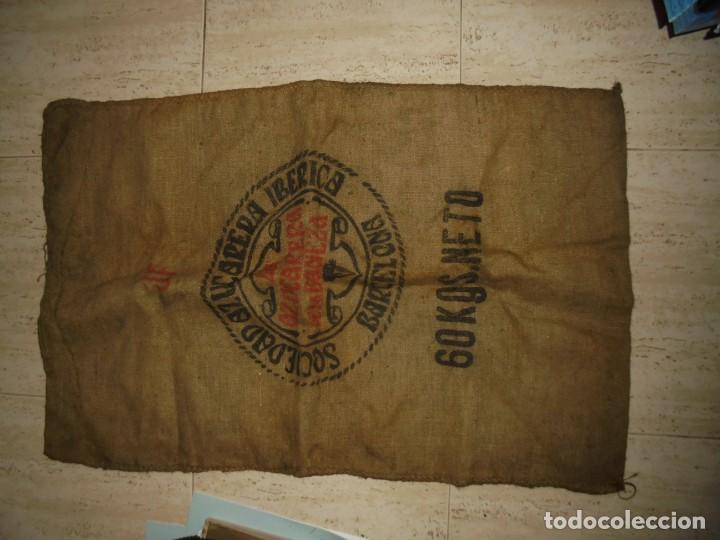 Antigüedades: ANTIGUO SACO DE AZUCAR.AZUCARERA DE LA BAÑEZA.SOCIEDAD AZUCARERA IBERICA.BARCELONA SACO DE 60 KG - Foto 8 - 175546623