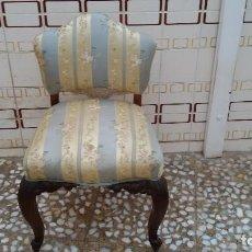 Antigüedades: SILLA DESCALZADORA ISABELINA. Lote 148693186