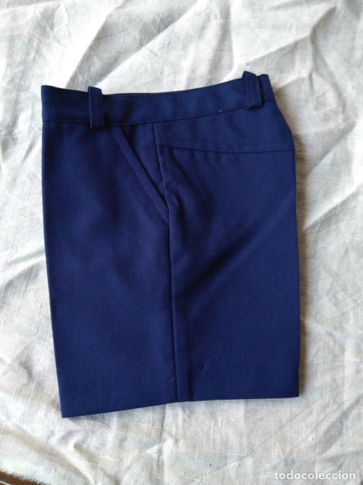 Antigüedades: Par de antiguos pantalones de niño, cortos, tergal, sin uso. Años 1960-70 - Foto 3 - 148707466