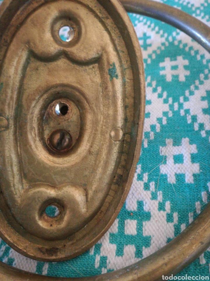 Antigüedades: TOALLERO LATON - Foto 3 - 148731356