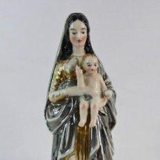 Antigüedades: PRECIOSA VIRGEN CON NIÑO ÉPOCA ISABELINA S XIX. Lote 148751110