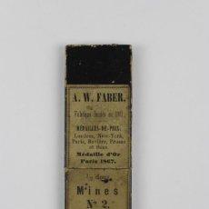 Antigüedades: ESTUCHE PORTAMINAS DEL NUMERO 2 .MARCA A.W.FABER.. Lote 148764722