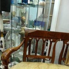 Antigüedades: BANCO ESTILO FERNANDINO- 1830- MADERA DE NOGAL. Lote 148766426