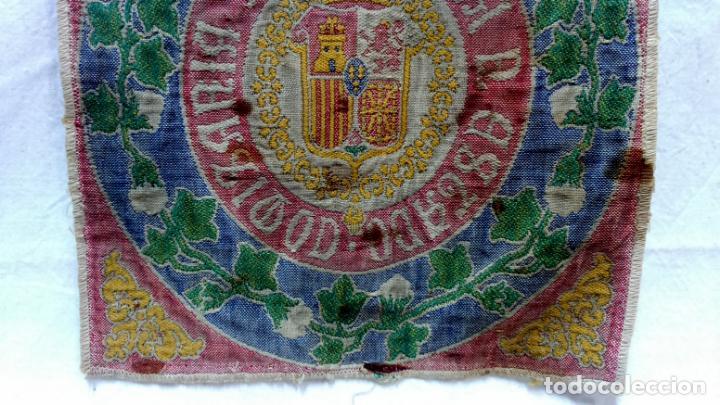 Antigüedades: TELA PROFUSAMENTE BORDADA CON LEMA COMISARÍA ALGODONERA DEL ESTADO. AÑOS 20 O 30. - Foto 3 - 148767214