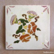 Antigüedades: BALDOSA FIRMADA POR M COLL B 15 CM X 15 CM. Lote 148777990