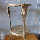 Antigüedades: PEANA DE BRONCE CALADO . Lote 148808646