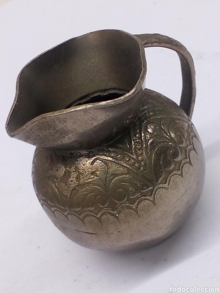 JARRA METALICA (Antigüedades - Hogar y Decoración - Jarrones Antiguos)