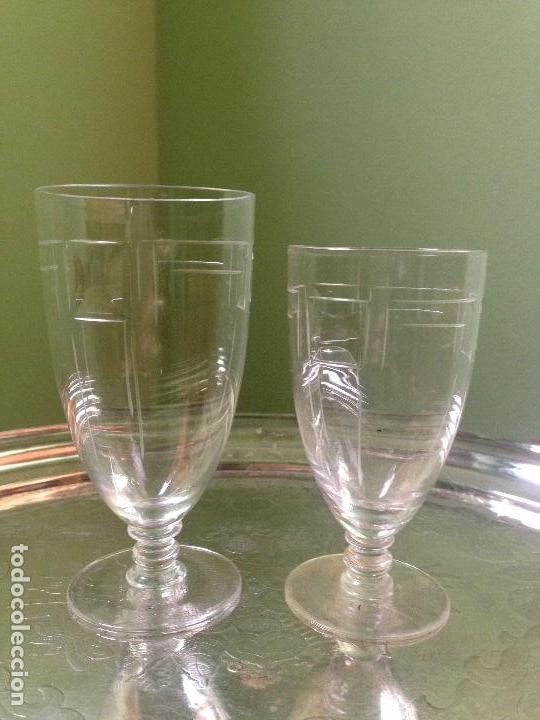 Antigüedades: elegantes copas art decó - Foto 4 - 148829406