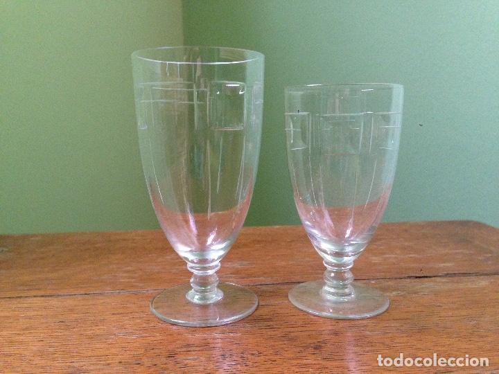 Antigüedades: elegantes copas art decó - Foto 5 - 148829406