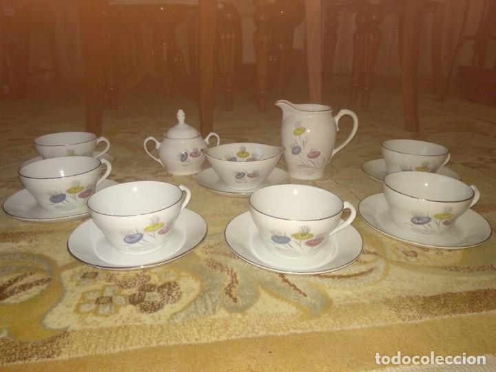 JUEGO DE CAFÉ ANTIGUO (Antigüedades - Porcelanas y Cerámicas - Otras)