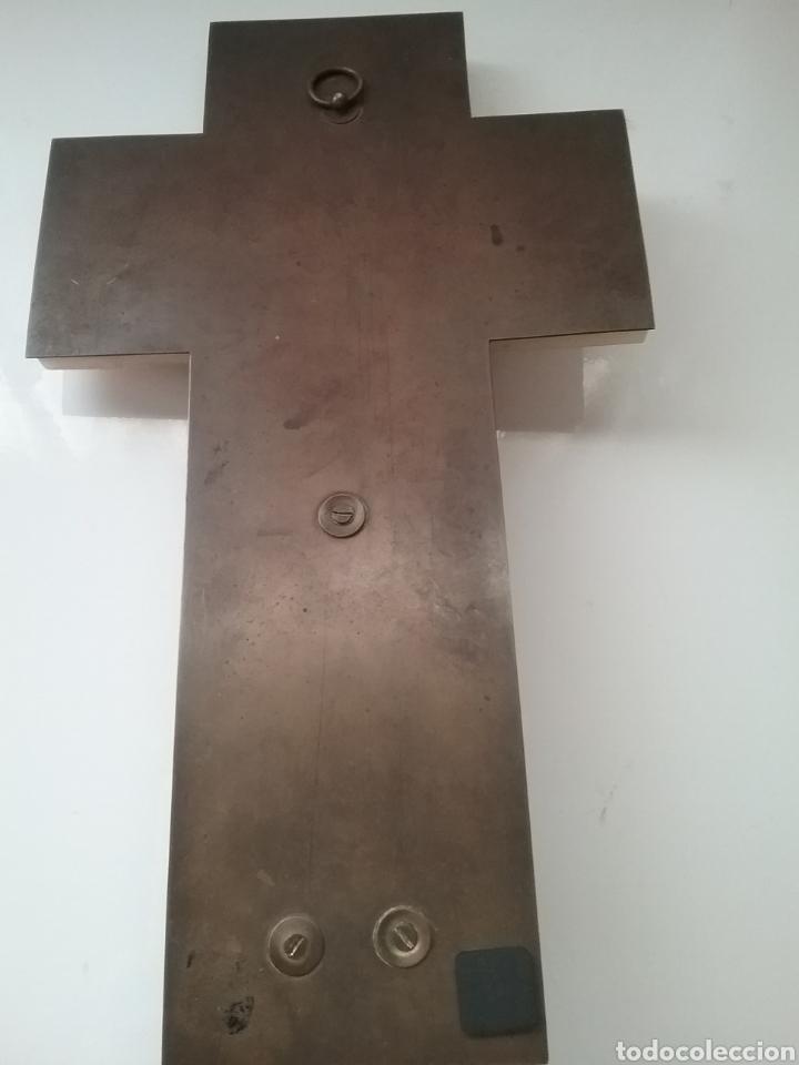 Antigüedades: Benditera cloisonne con cruz sobre alabastro. - Foto 4 - 148898148