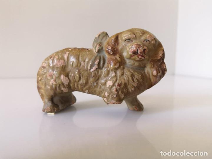 MUY ANTIGUO PALILLERO DE PERRO CON LAZO - SARGADELOS (Antigüedades - Porcelanas y Cerámicas - Sargadelos)