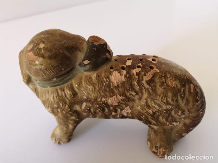 Antigüedades: MUY ANTIGUO PALILLERO DE PERRO CON LAZO - SARGADELOS - Foto 6 - 148913274