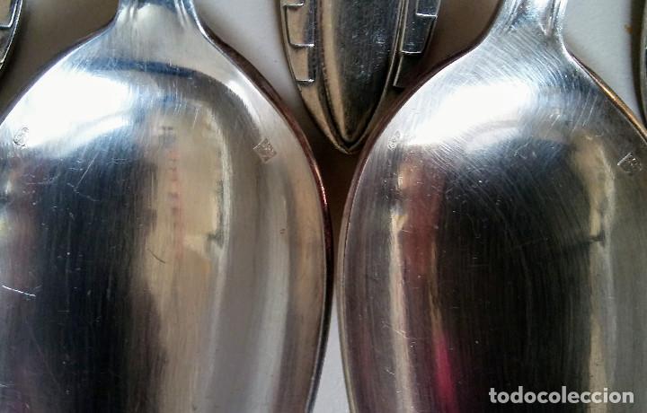 Antigüedades: JUEGO DE 42 CUBIERTOS PLATA VINTAGE - Foto 6 - 148913890