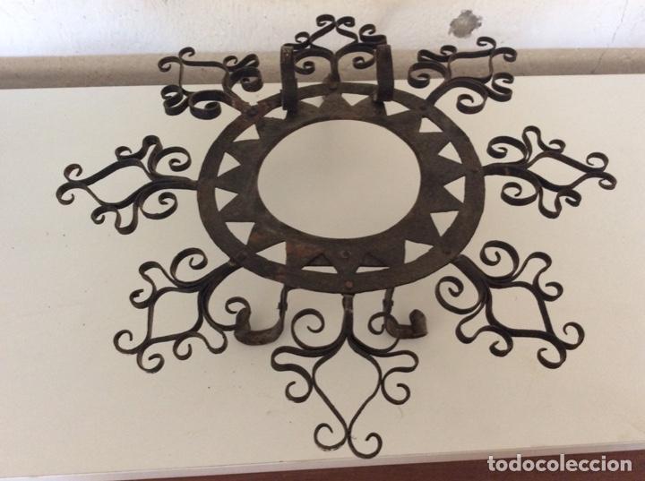 ANTIGUO ALMIRECERO DE FORJA EXCEPCIONAL TRABAJO ARTESANAL (Antigüedades - Técnicas - Rústicas - Utensilios del Hogar)