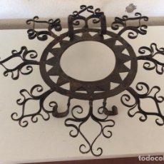Antigüedades: ANTIGUO ALMIRECERO DE FORJA EXCEPCIONAL TRABAJO ARTESANAL. Lote 148932882