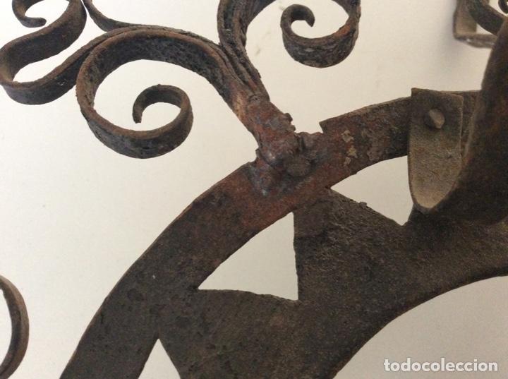 Antigüedades: Antiguo almirecero de forja excepcional trabajo artesanal - Foto 4 - 148932882