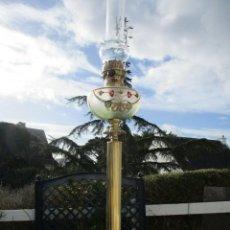 Antigüedades: IMPRESIONANTE RARA ELEGANTE ANTIGUA ENORME LAMPARA QUINQUE BRONCE CRISTAL BACCARAT. ORO 422,00 €. Lote 149000418